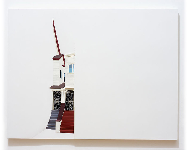 Gates, 2008 Wood, paint, metal  30 x 40 inches