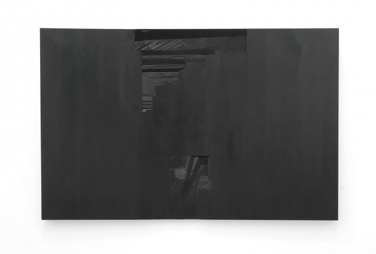 Mayes Lumber #4  (upstairs downstairs), 2013  Ebonized cherry wood  54 x 84 x 5 inches